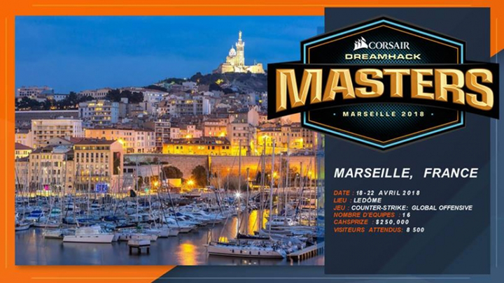 Marseille to host DreamHack Masters event